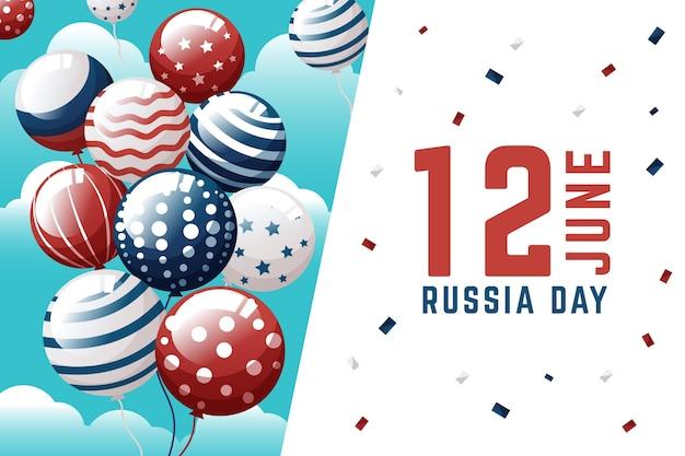 Rusland dag achtergrond met ballonnen thema