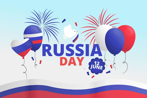 Rusland dag achtergrond