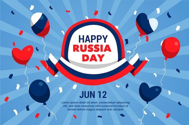 Rusland dag achtergrondontwerp
