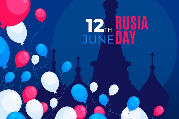 Rusland dag behang met ballonnen