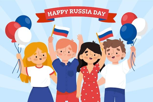 Rusland dag kleurrijk behang