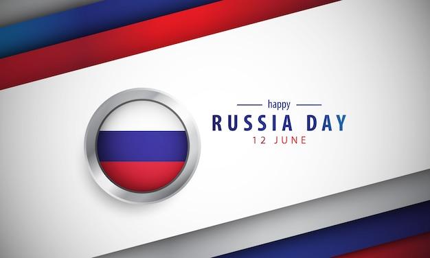 Rusland dag met realistische achtergrond