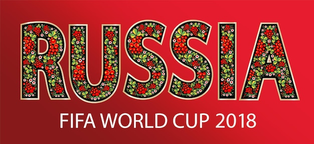 Rusland horizontale banner russische rode achtergrond met traditionele en moderne elementen trend vector t...