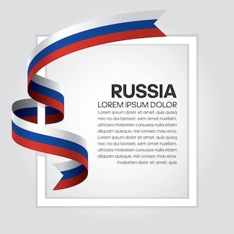 Rusland lint vlag, vectorillustratie op een witte achtergrond