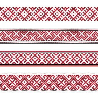 Russisch oud borduurwerk en patronen