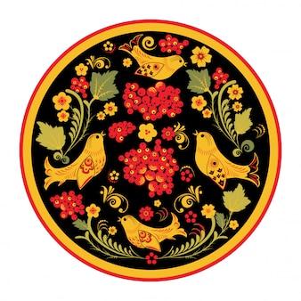 Russische folk ornament hohloma, vectorillustratie