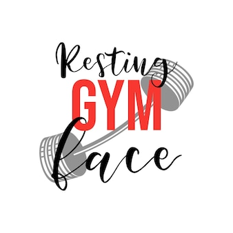Rustende sportschool gezicht belettering offerte