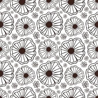 Rustiek bloemmotief voor textiel