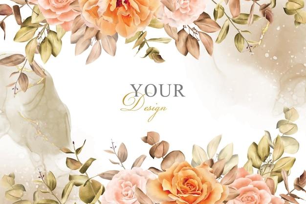 Rustiek boheems herfst herfst bruiloft uitnodiging ontwerp
