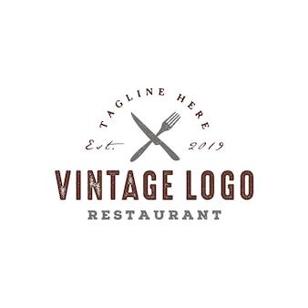 Rustiek vintage restaurant logo ontwerp