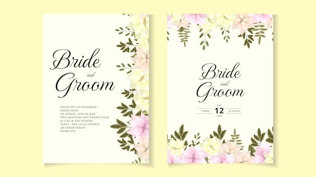 Rustieke bruiloft uitnodiging bloemen uitnodigen dank u, rsvp moderne kaart.