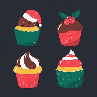Rustieke vector christmas candy cakes