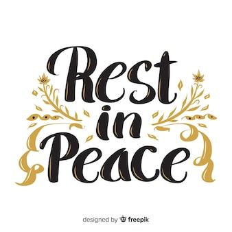 Rustig in vrede belettering