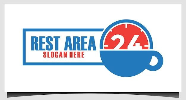 Rustruimte 24 uur logo ontwerpsjabloon