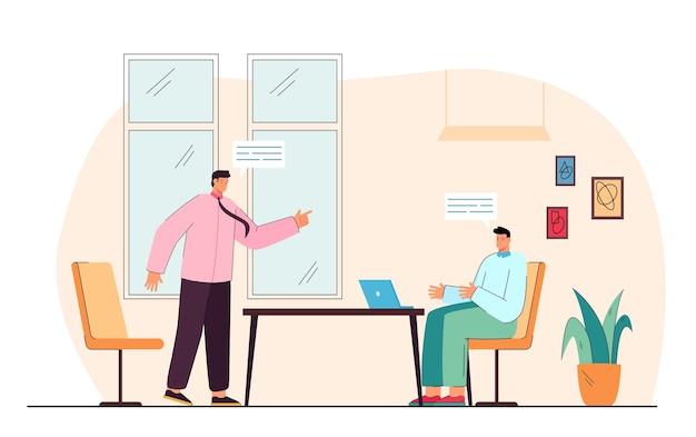 Ruzie tussen zakenlieden tijdens vergadering