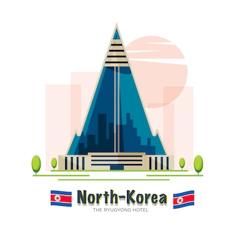 Ryugyong hotel. pyongyang, noord-korea