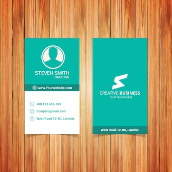 S brief logo minimal corporate visitekaartje met lichtgroen rug