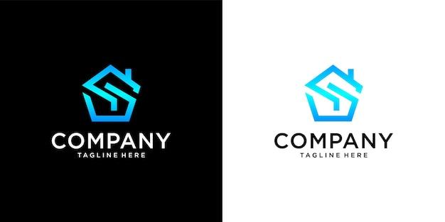 S huis logo ontwerp