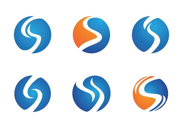 S letter logo, volume pictogram sjabloon ontwerpelement