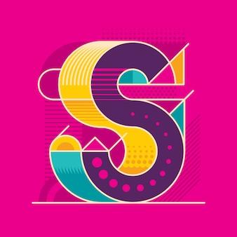 S letter ontwerp