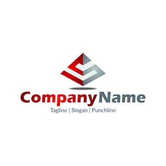 S shape pyramid-logo