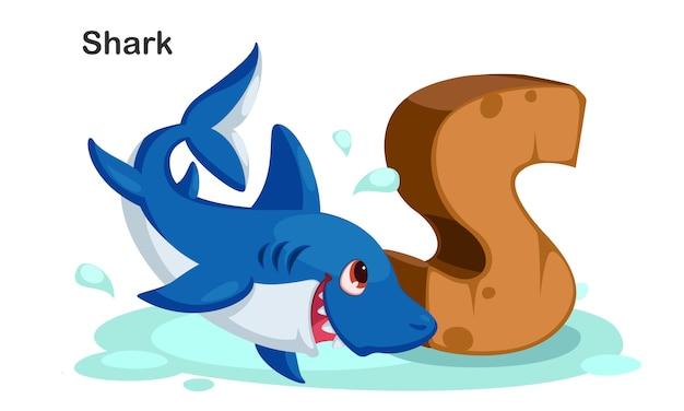 S voor shark