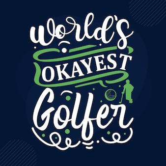 's werelds beste golfer typografie premium vector design offertesjabloon