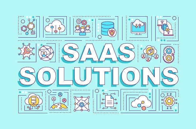 Saas-oplossingen woord concepten illustratie