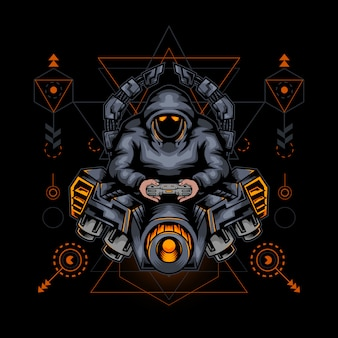 Sacred geometry gamers illustratie
