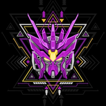 Sacred geometry violet robot