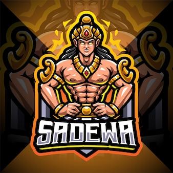 Sadewa esport mascotte logo ontwerp