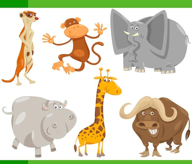 Safari dieren cartoon ingesteld illustratie