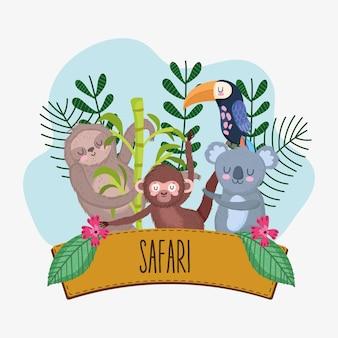 Safari dieren houten teken