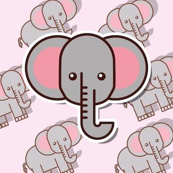 Safari dierenkaart
