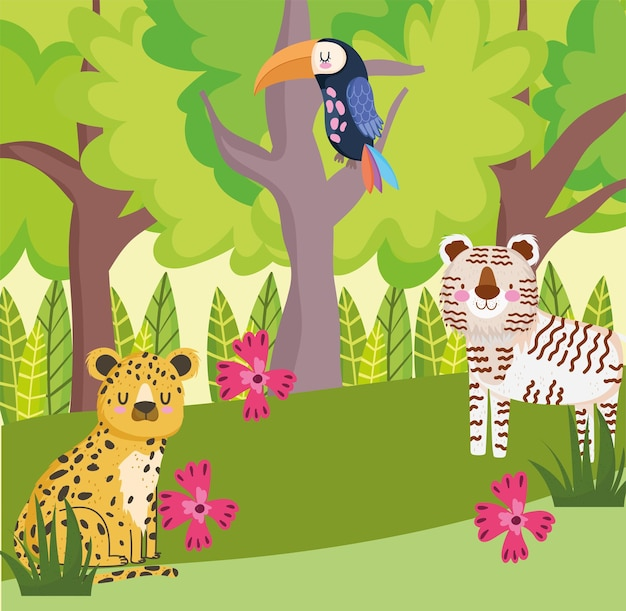 Safari jungle dieren