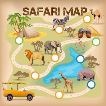 Safari-poster voor spel
