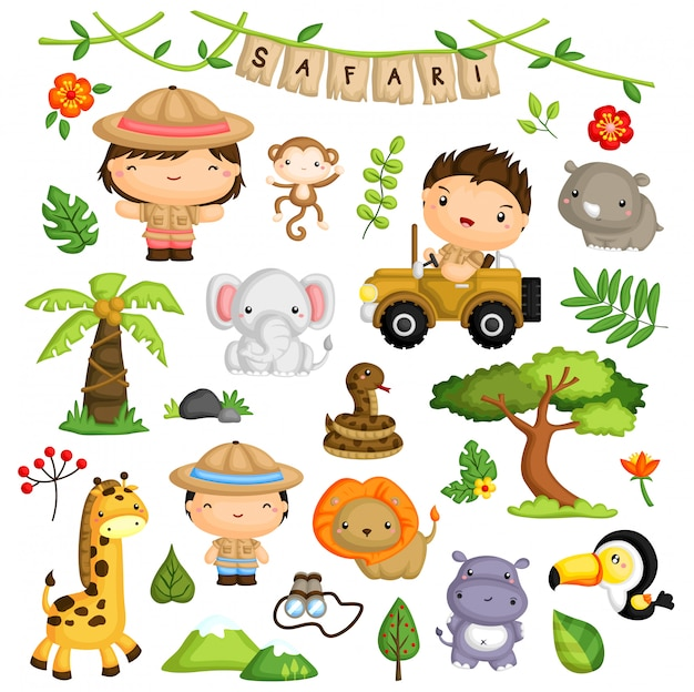 Safari vector set