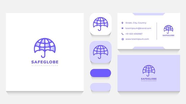 Safe globe logo-sjabloon en visitekaartje