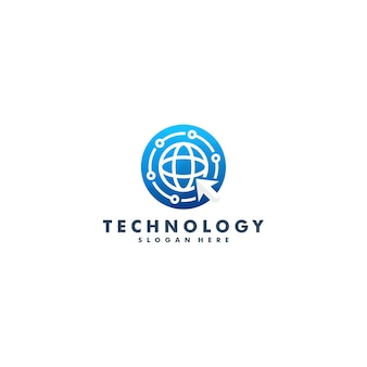 Safe technology logo-ontwerp. internet beveiligingspictogram symbool