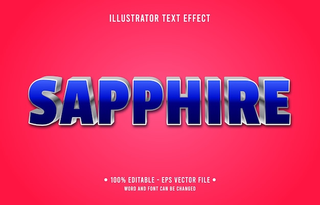 Saffier bewerkbaar teksteffect moderne verloopstijl