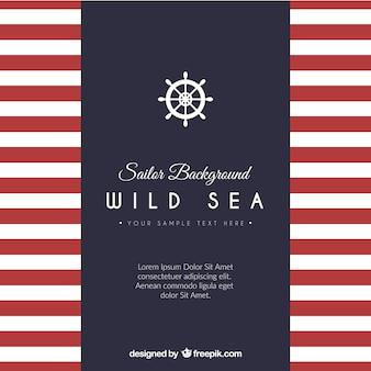 Sailor achtergrond sjabloon