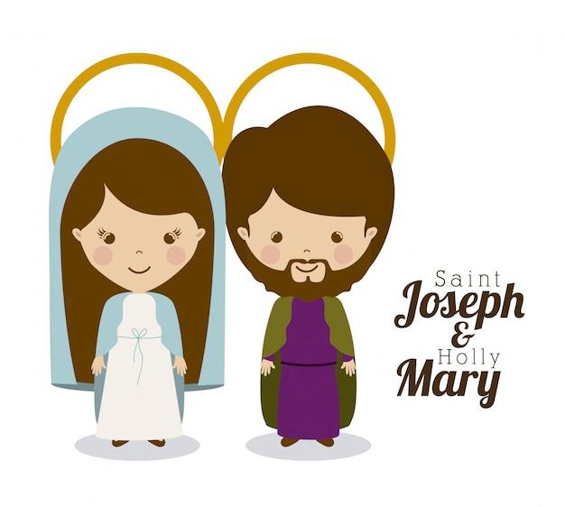 Saint joseph en holly mary
