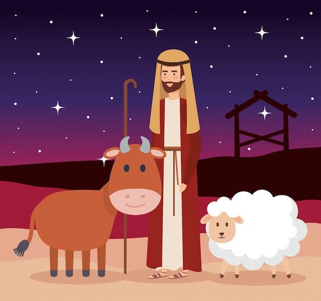 Saint joseph kerstmis karakter