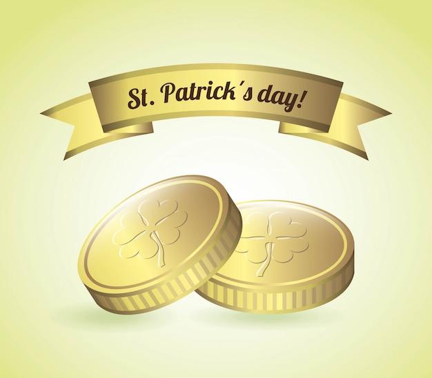 Saint patrick dag over groene achtergrond vectorillustratie