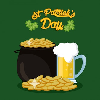 Saint patrick dagen kaart