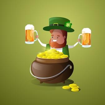 Saint patrick day beer illustratie