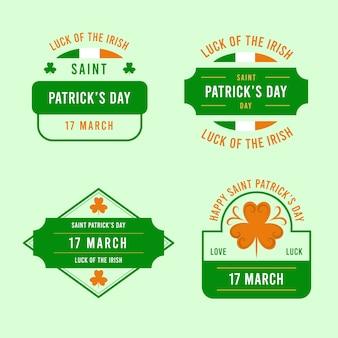 Saint patrick's day badge-collectie