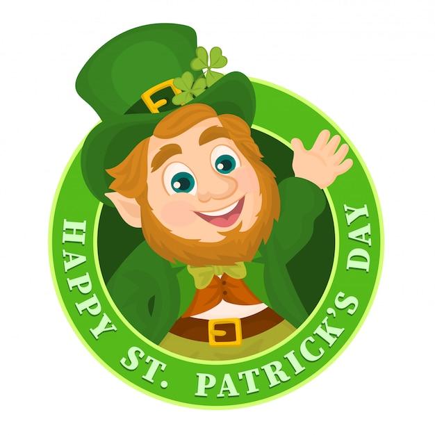 Saint patrick's day badge of embleem