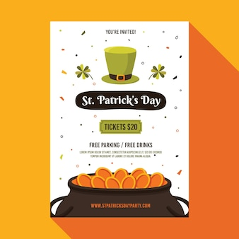 Saint patrick's day flyer-sjabloon