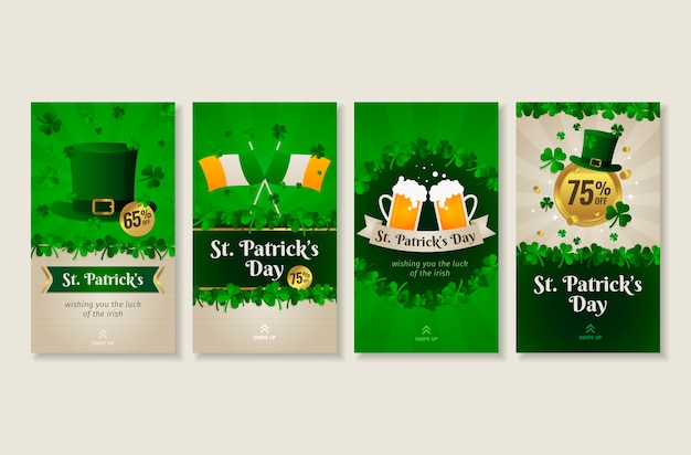 Saint patrick's day instagram-verhalencollectie